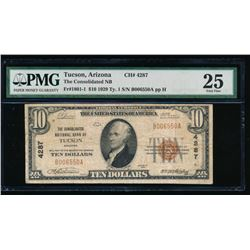 1929 $10 Tucson National Bank Note PMG 25