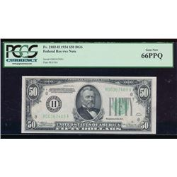 1934 $50 St Louis Federal Reserve Note PCGS 66PPQ