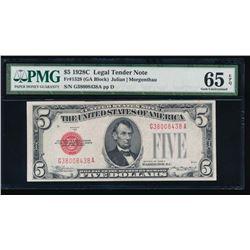 1928C $5 Legal Tender Note PMG 65EPQ