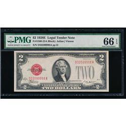 1928E $2 Legal Tender Note PMG 66EPQ