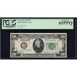 1928 $20 Richmond Federal Reserve Note PCGS 65PPQ
