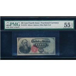 50 Cent Fourth Issue Fractional Note PMG 55EPQ