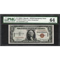1935A $1 Hawaii Silver Certificate WWII Emergency Note PMG Choice Uncirculated 64