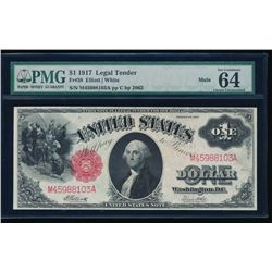 1917 $1 Legal Tender Note PMG 64EPQ