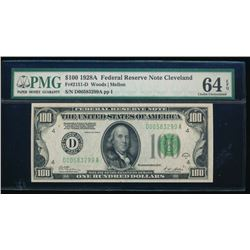 1928A $100 Cleveland Federal Reserve Note PMG 64EPQ