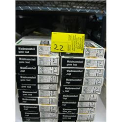 "20 boxes of 10 Rottweil 20 ga 2 3/4"" various shot size."