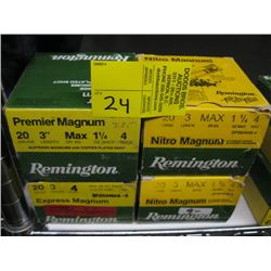 "4 boxes of 25 Remington 20 ga 3"" #4 shot"