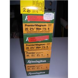 "4 boxdes of 25 Remington 20 ga 2 3/4"" #4 & #6 shot"