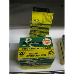 1 box of 25 & 5 boxes of 5 Remington buck shot