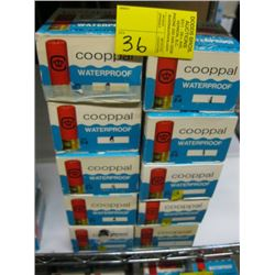 "10 boxes of 25 Cooppal 24 ga 2 1/2"" various shot size"