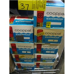 "9 boxes of 25 Cooppal 24 ga 2 1/2"" various shot size"