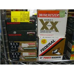 "4 boxes of 12 ga, 3"" #2 shot gun shells 10/box & 2 part"