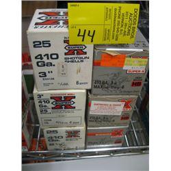 """6 boxes 410 ga Winchester(5 boxes 3"""" & 1 box 2 1/2"""") #4 &"""