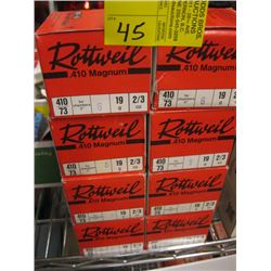 "8 boxes Rottweil 410 ga 3"" shot-shot gun shells 25/box"