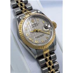 Rolex Datejust Pyramid Dial Ladies Watch