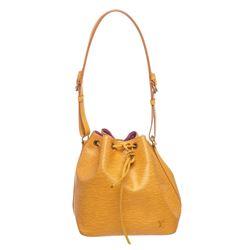 Louis Vuitton Yellow Epi Leather Drawstring Shoulder Bag