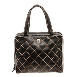 Chanel Quilted Leather Bowler Bag
