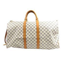 Louis Vuitton Damier Azur Bandouliere Keepall 55 Duffel Bag