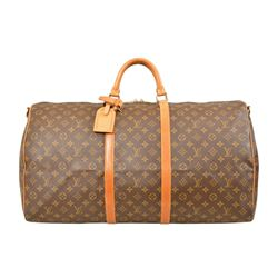 Louis Vuitton Monogram Keepall 60 Bandouliere Duffel Bag