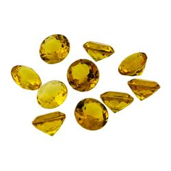 16.85 ctw.Natural Round Cut Citrine Quartz Parcel of Ten