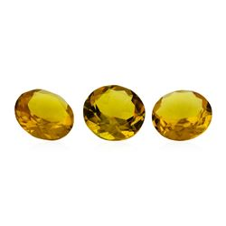 10.81 ctw.Natural Round Cut Citrine Quartz Parcel of Three