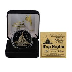 Limited Edition Disney Magic Kingdom .999 Fine Silver Medal w/ 24K Gold Highligh