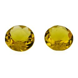 2.03 ctw.Natural Round Cut Citrine Quartz Parcel of Two