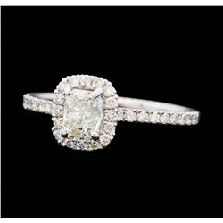 14KT White Gold 1.01 ctw Diamond Wedding Ring