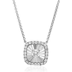 18k Gold 0.14CTW Diamond Necklace, (SI2/H)