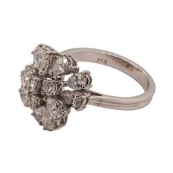 3.03 ctw Diamond Ring - 18KT White Gold