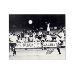 Scissor Kick (black & white) by Pele