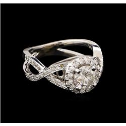 1.38 ctw Diamond Ring - 14KT White Gold