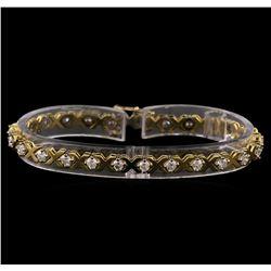 14KT Yellow Gold 2.23 ctw Diamond Tennis Bracelet