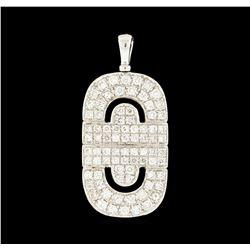 1.36 ctw Diamond Pendant - 18KT White Gold