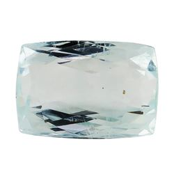 6.90 ct.Natural Rectangle Cushion Cut Aquamarine