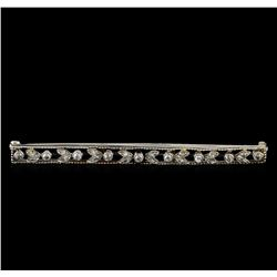 0.42 ctw Diamond Brooch - Platinum