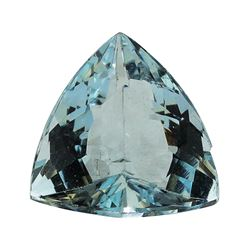 3.39 ct.Natural Trilliant Cut Aquamarine