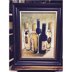 "J.Koehn ""Private Reserve""  wine, wine bar painting"