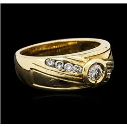 14KT Yellow Gold 0.45 ctw Diamond Ring
