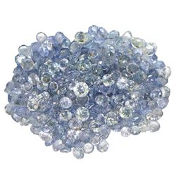 10.85 ctw Round Mixed Tanzanite Parcel