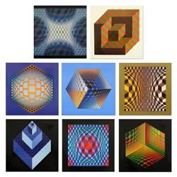Structure Universelles De L'hexagone by Vasarely (1908-1997)