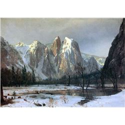 Cathedral Rocks, Yosemite by Albert Bierstadt
