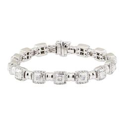 4.20 ctw Diamond Bracelet - 18KT White Gold