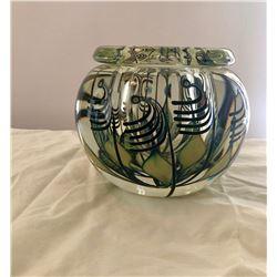 John Lotton art glass bowl -signed