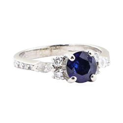 1.41 ctw Sapphire and Diamond Ring - Platinum