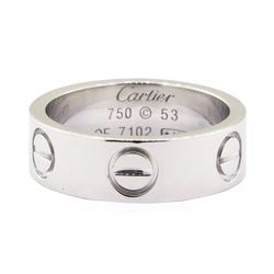 Cartier Love Ring - 18KT White Gold