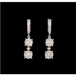14KT White Gold 1.19 ctw Diamond Earrings