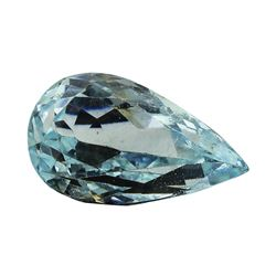 5.98 ct.Natural Pear Cut Aquamarine