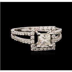 18KT White Gold 1.12 ctw Diamond Ring