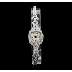 Lusserna for Macy's Platinum Diamond Vintage Ladies Watch